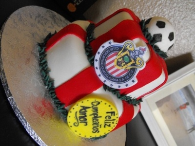 Chivas Soccer By curlytopcupcakes on CakeCentral.com