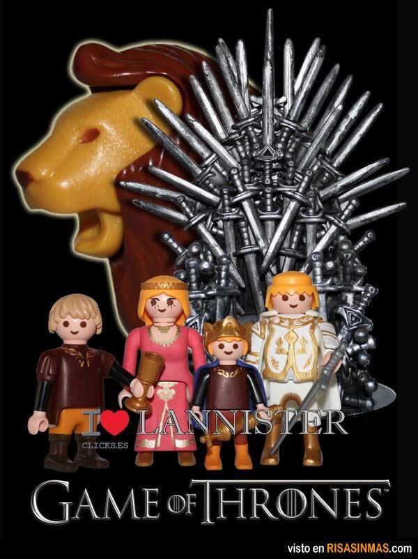 Juego de Tronos. Los Lannister versión Playmobil.
