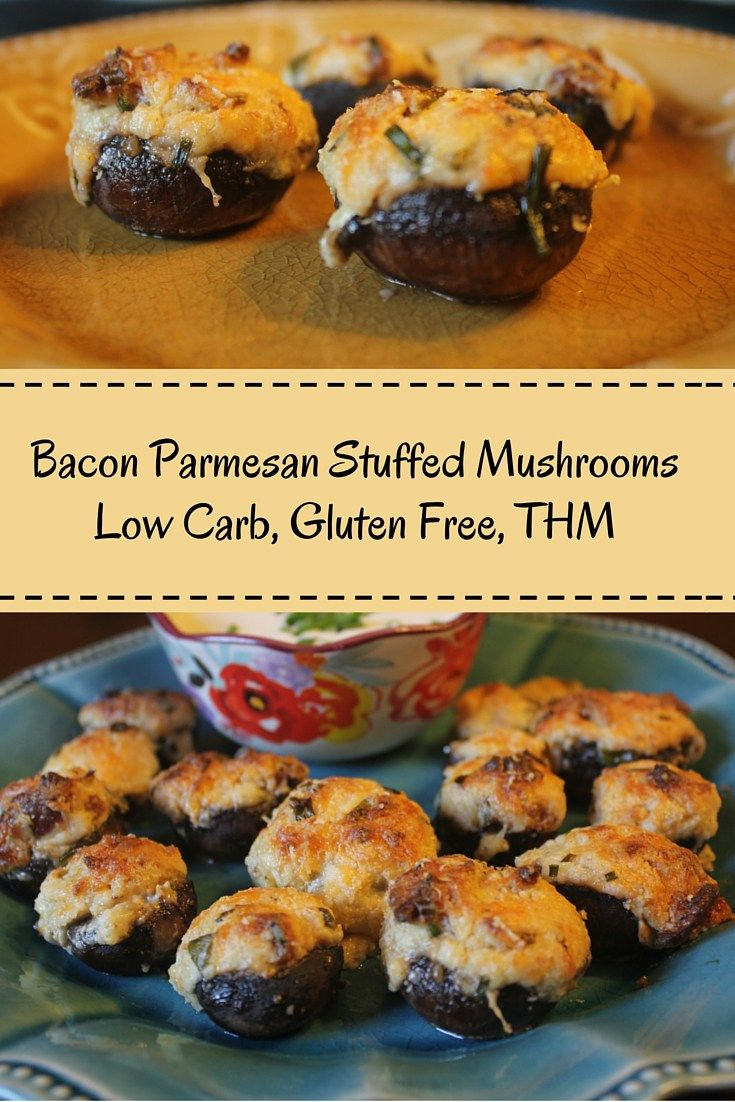Bacon Parmesan Stuffed Mushrooms (Low Carb, Gluten Free)