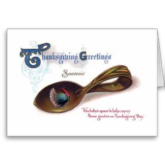 Souvenir Thanksgiving Baby Spoon Greeting Card