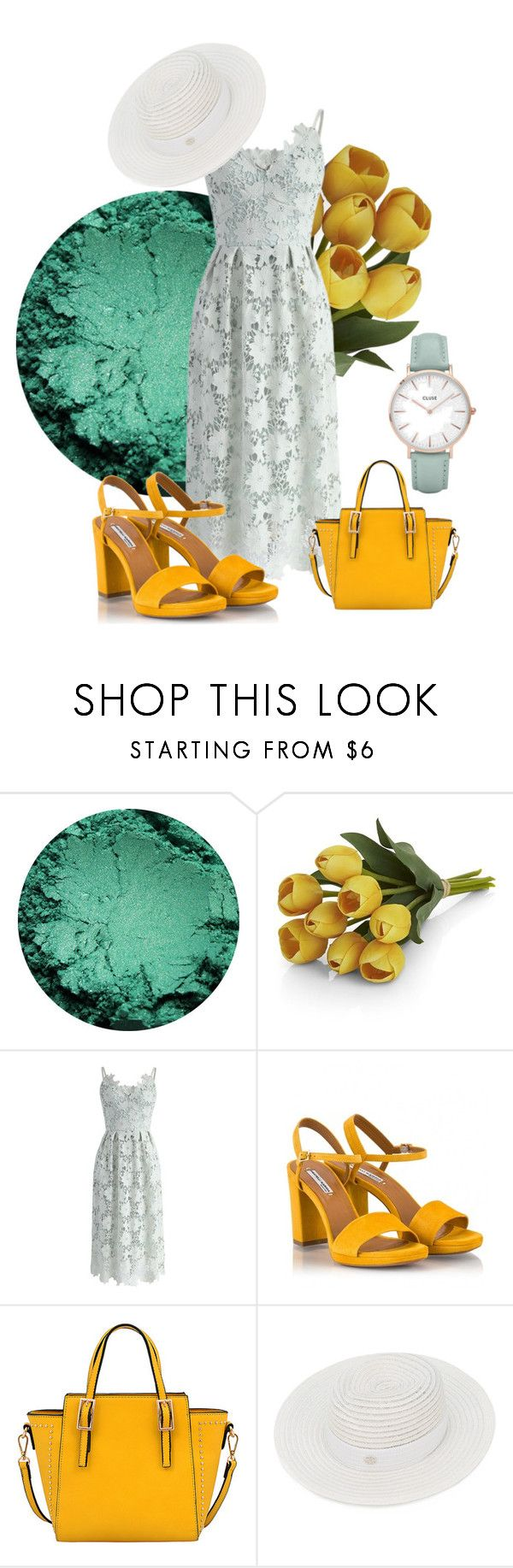 """""""Mint Dreams"""" by plinker on Polyvore featuring Crate and Barrel, Chicwish, Fratelli Karida, Mellow World, Maison Michel and CLUSE"""