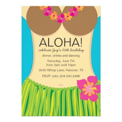 Aloha Hawaiian Party Invitation,