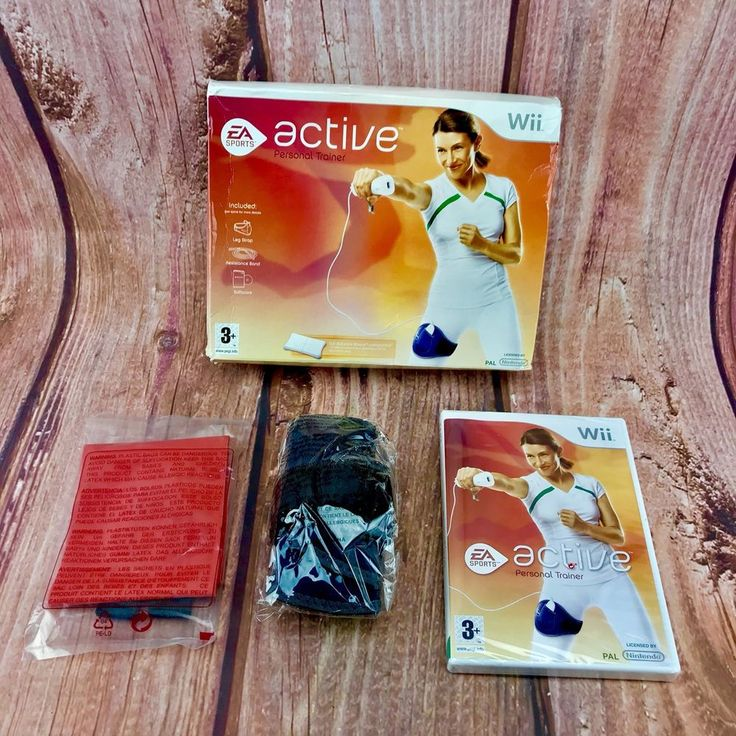EA Sports Active Personal Trainer Wii Leg Strap Resistance Band Game All Sealed