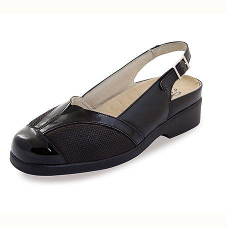 Sandalias de piel Alina Negro