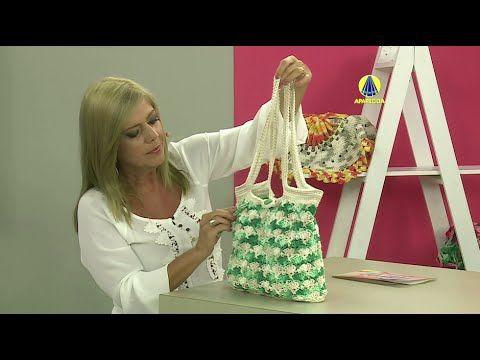 Vida com Arte   Bolsa com flores em crochê por Marta Araujo - 05 de abril de 2016 - YouTube
