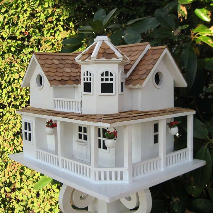 Williamsburg cottage birdhouse for the birds pinterest for Decorative birds for outside