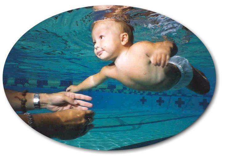 Baby Elizabeth Swims Across Pool - YouTube