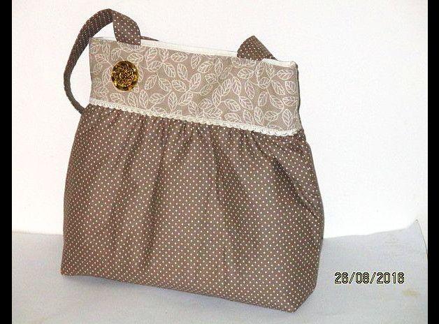 Ballontaschen - ladylike in Beigetönen.. Handtasche- Shopper - ein Designerstück von TRAUMTASCHEN bei DaWanda