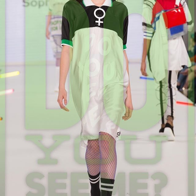 "Sophie Maddocks - Manchester School of Art - Graduate Collection 2017. Feminism. Comic. Pop Art. London Gradate Fashion Week. ""Do you See Me?"" Silk Dress."