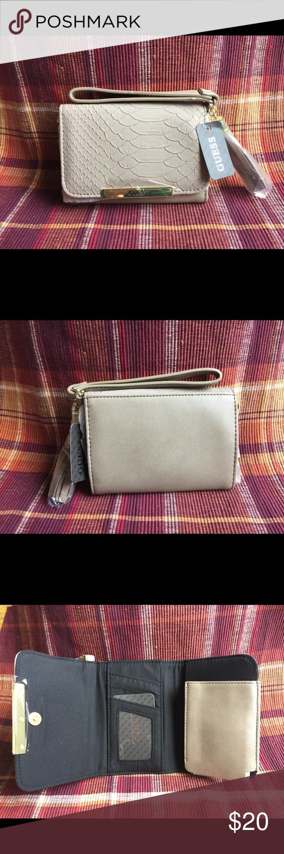 Guess wallet NWT guess wallet with cellphone pocket its fit for iphone 6 Guess Bags Wallets