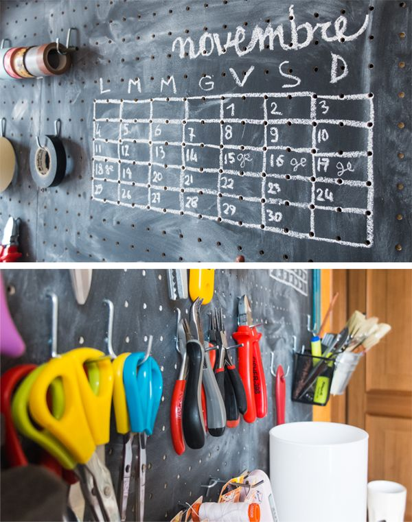 9 best garage reno ideas lots of pegboard images on pinterest chalkboard pegboard chalkboard calendar diy craft room solutioingenieria Gallery