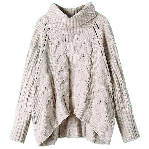Best 25  Chunky cable knit sweater ideas on Pinterest | Boots ...