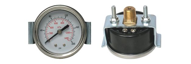 For measuring gases, air, water and oils when equipment or processes require a panel mounted gauge.