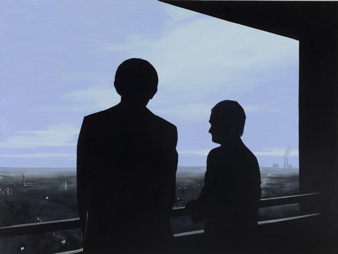 WILHELM SASNAL Untitled (Andrzej and Adam), 2009 Oil on canvas