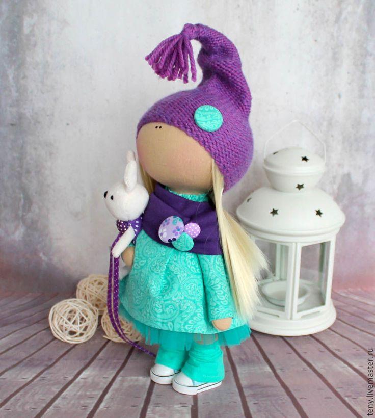"""Купить Текстильная интерьерная кукла """"Мятный гномик"""" - мятный, интерьерная кукла, интерьерная игрушка"""