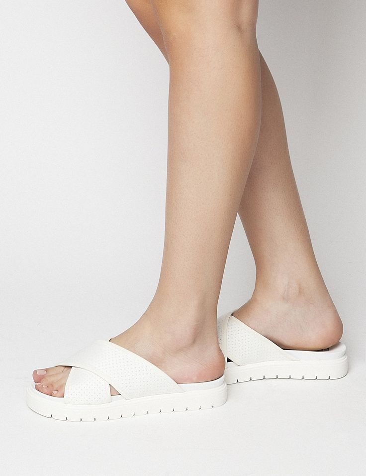 Jenna White Sandals S/S 2015 #Fred #keepfred #shoes #collection #neoprene #fashion #style #new #women #trends #white #sandals
