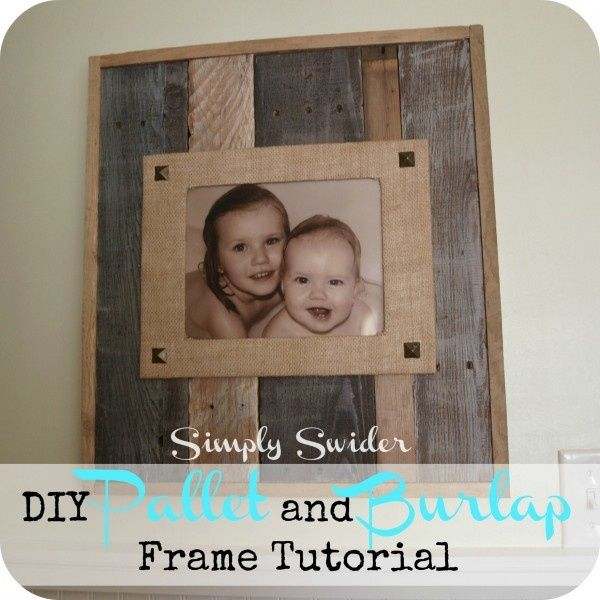 Pallet picture frame #LiquidGoldSalvagedWood