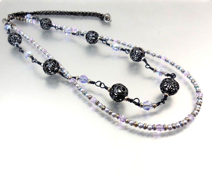 InspirationFX: Midnight Lavendar Necklace