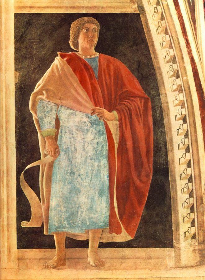 Profeta Geremia, Пьеро делла Франческа, 1458 - Базилика Сан-Франческо в Ареццо.