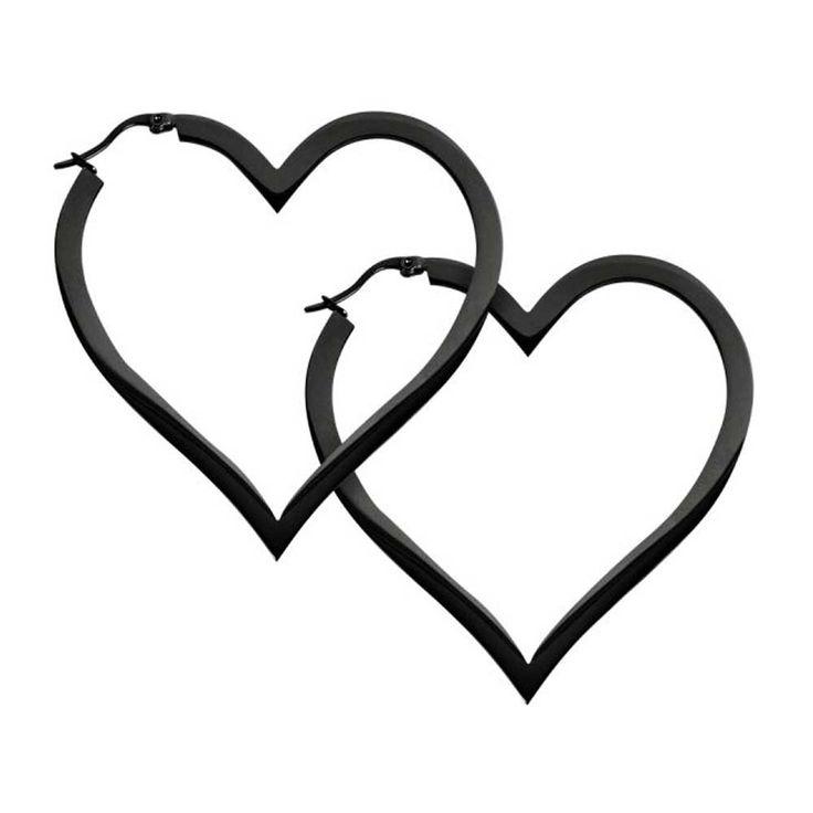 You stole my heart! Big heart hoop earrings by Wildcat