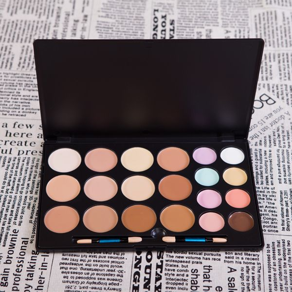 Makeup Palette 20 Color Camouflage Concealer Professional Enabling Layering And Mixing Black Case FG20 V1050A $16.39