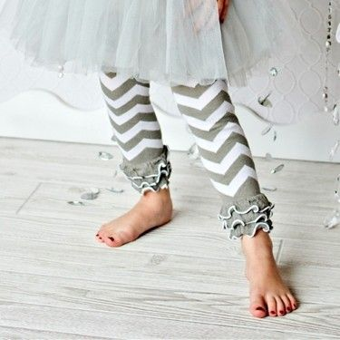 Grey Ruffle Chevron Leg Warmer  Gray Baby Leg Warmers  60 Pair/lot  QueenBaby
