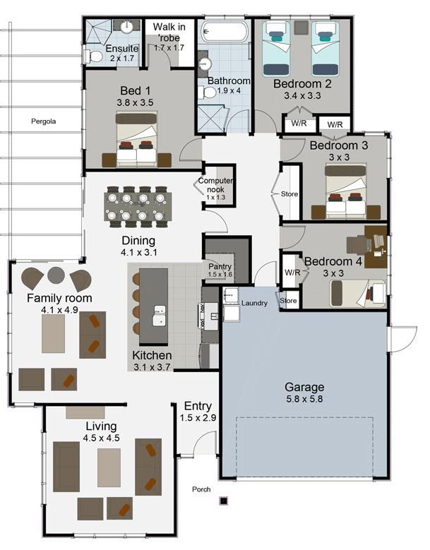 tempo 4 bedroom house plan landmark homes builders nz