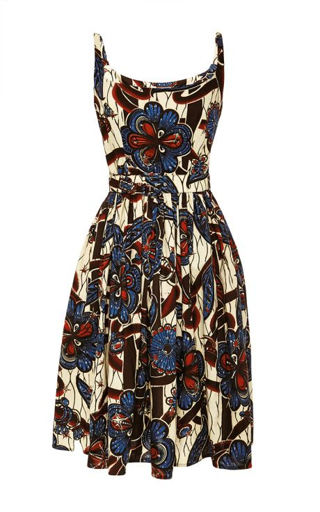 Love african prints.  Mali Dress In Diamond Garden by Lena Hoschek - Moda Operandi