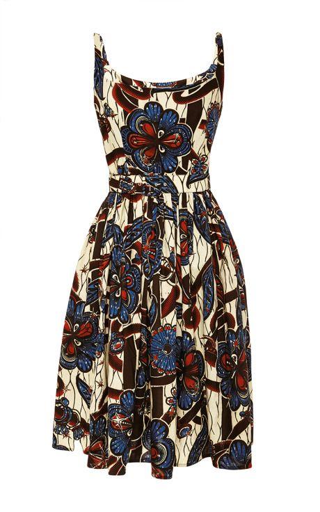 Mali Dress In Diamond Garden by Lena Hoschek - Moda Operandi