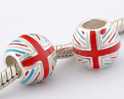 British Flag Charm 925 Silver Pandora Compatible - Soufeel