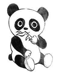 pandabeertje tekenen dieren tekenen tekenen en panda
