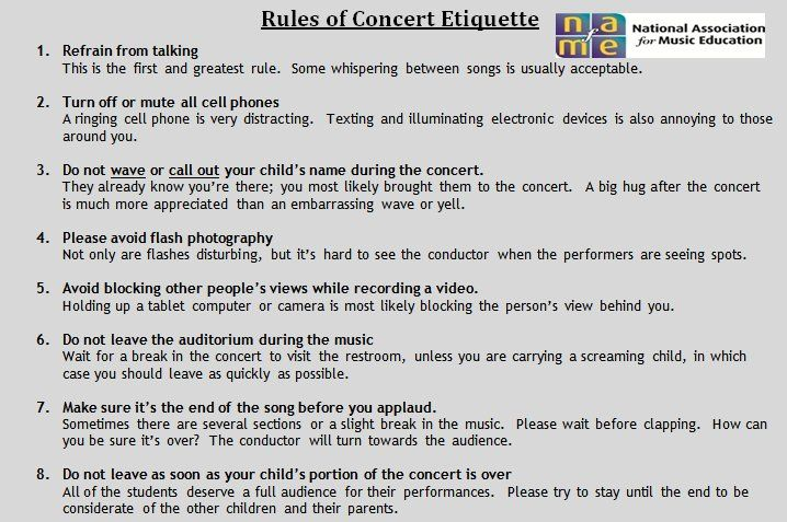 """concert etiquette """"a painter paints his pictures on canvas but musicians paint their pictures on  silence we provide the music, and you provide the silence"""" – leopold  stokowski."""