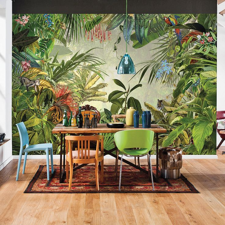 Decoration jungle urbaine salle manger style jungle for Decoration urbaine