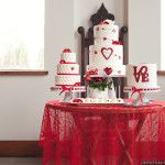 Trend Decor | Real Weddings Gallery | http://www.trenddecorevents.com Passion For Cakes http://www.seacider.ca rustic valentine cake red lace overlay