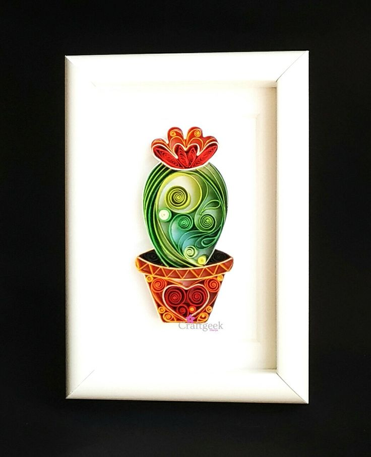 Cactus, Framed Cactus Art, Cactus Plant, Quilled Paper Art. by PaperSplash on Etsy