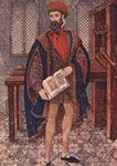 """Johann Gutenberg: Inventor of the Movable-Type Printing Press;  He Printed the First Book in 1455:  The Latin Language """"Gutenberg Bible""""."""