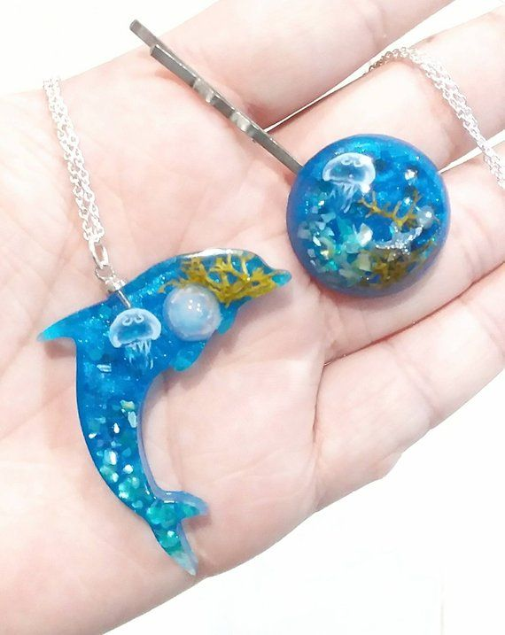 Ocean Dolphins and Shell Jewellery Set