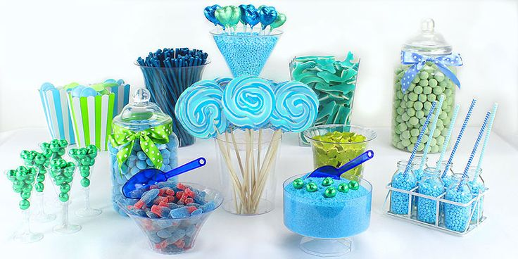 Green & Blue Candy Buffet | Asda Party