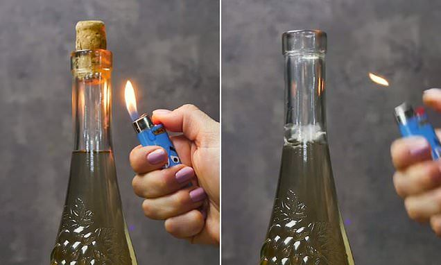 How To Get A Wine Cork Out With A Lighter