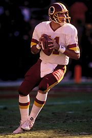 """#11 Mark Rypien – Quarterback (1987-93) Known by teammates as """"Ryp""""… Passed for more than 15,000 yards during career… MVP of Super Bowl XXVI… Pro Bowl selection in 1989 and 1991. Most memorable moment with Redskins was winning the Super Bowl… Cites Art Monk and Darrell Green as most admired teammates for the """"longevity of their careers and ability to stay healthy."""""""
