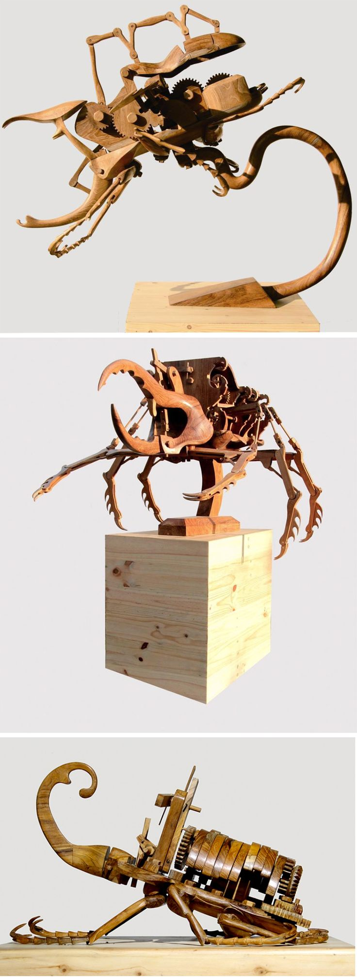 Art fairs mechanical movement metal paris russia sculptures wood - Hybrid Kinetic Insects Carved From Wood By Dedy Shofianto Paper Sculptureswood Sculpturejunk Artassemblage Artroboticsmetal