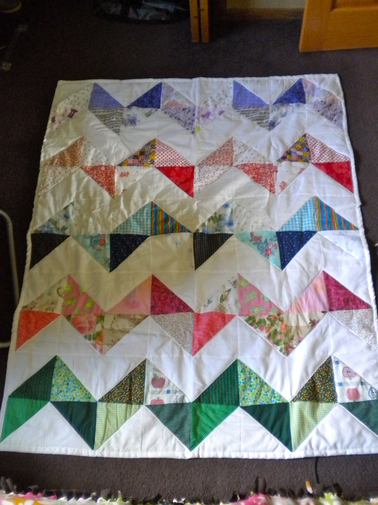 rainbow zig zag quilt. My Projects Pinterest Zig zag and Rainbows