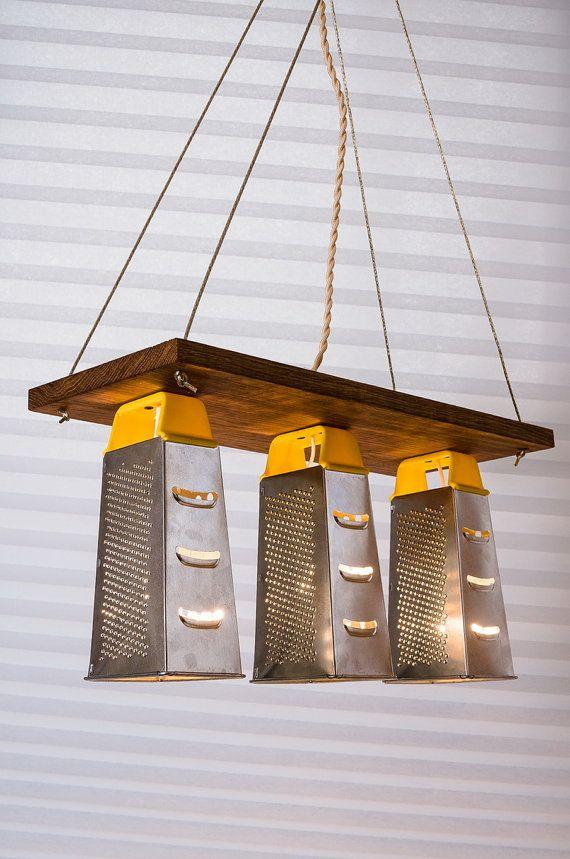 Grater Light Grater Chandelier Kitchen Lamp Kitchen by LightTRET