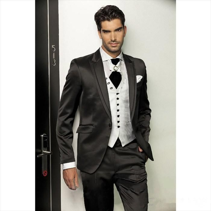 Groom Tuxedos Wedding Suits For Men Best Man Suit Wedding Groomsman Men Suits Bridegroom Jacket+Pants+Vest Handsome Fashion Style Mens Suits Cheap Mens Suits Wedding From Cookyshop, $73.47| Dhgate.Com