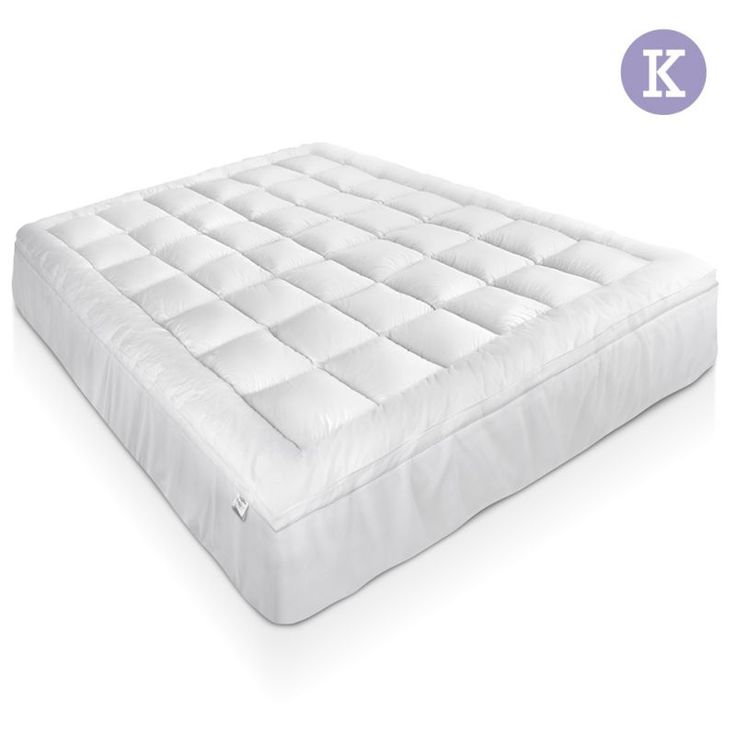 Duck Feather Down Mattress Topper King 1000gsm Size Toppers