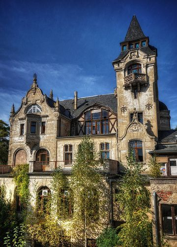 Abandoned villa in Lower Silesia, Poland.