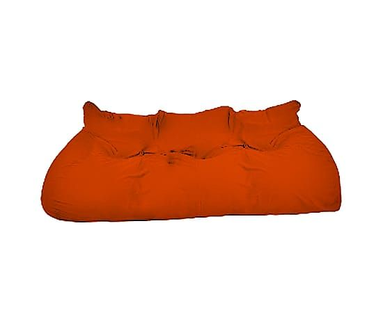 Divano letto in cotone 0 Gs arancione - 254x90x90 cm