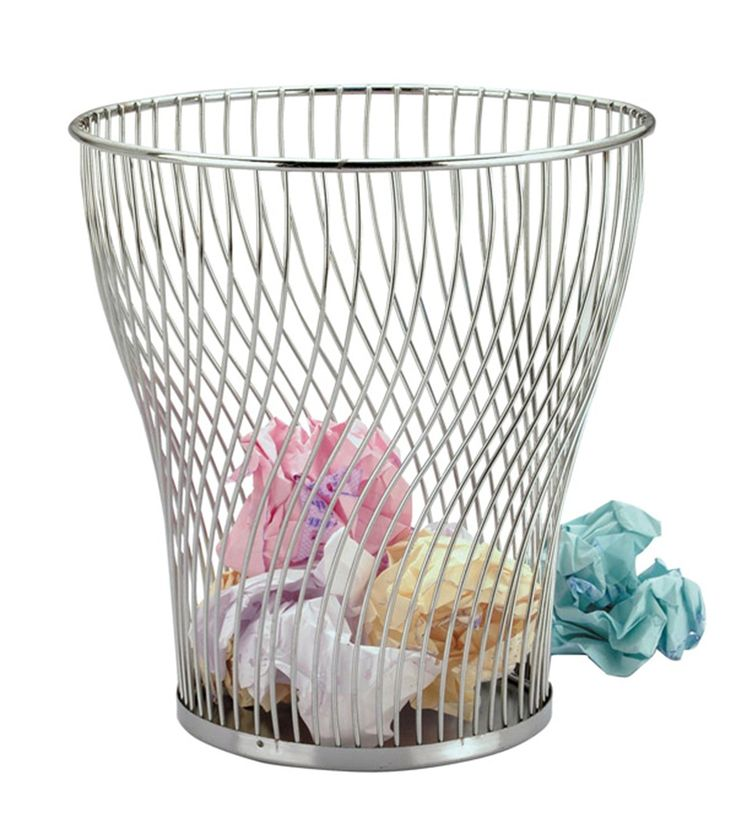 Zodiac Chrome Wire Waste Paper Basket: Amazon.co.uk: Kitchen & Home
