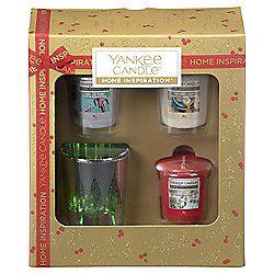 Yankee Candle 3 VotivE&Holder Xmas Giftset