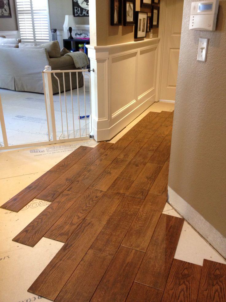 Wood looking tile